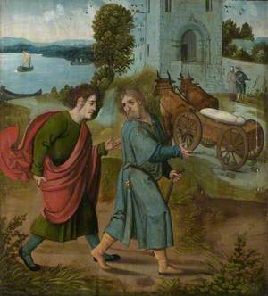 The Oxburgh Retable: The Body of Saint James the Greater Miraculously Transported to Compostella by Oxen