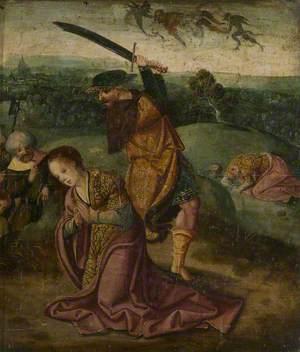 The Oxburgh Retable: The Martyrdom of Saint Barbara