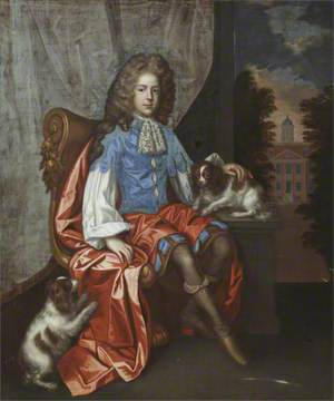 John Astley (b.1676/1677), Aged 13, with Two King Charles Spaniels