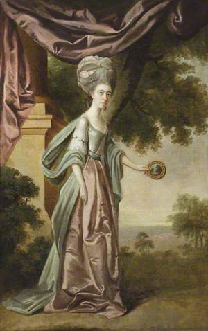 Sophia Anne Delaval (1755–1793), Mrs Jadis, Holding a Claude Glass to the Landscape