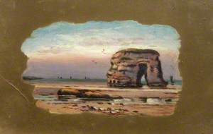 Coastal Scene, with Marsden Rock
