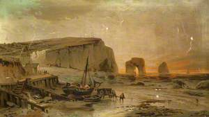 Coastal Scene with Marsden Rock*