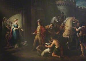 King Edgar's First Interview with Queen Elfrida (Aelfryth)