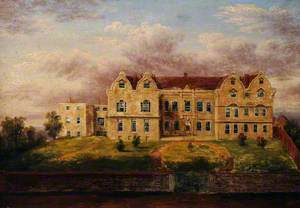 Imaginary View of the West Front of Treasurer's House in the Mid-Eighteenth Century