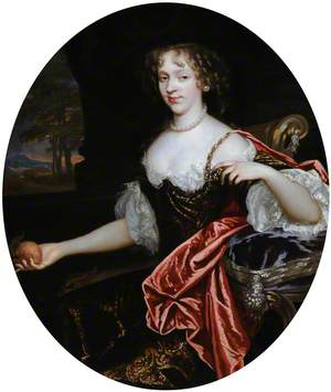 Portrait of an Unknown Young Lady Holding an Orange