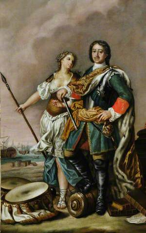 Peter I (1672–1725), 'Peter the Great', Tsar of Russia, with Minerva