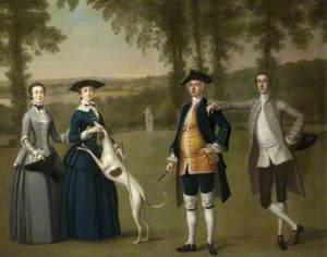 The Trevelyan Conversation Piece: Sir John Trevelyan (1735–1828), 4th Bt, with His Wife Louisa Simond, Lady Trevelyan, His Son Sir John Trevelyan (1761–1846), 5th Bt, and His Daughter Helena Trevelyan