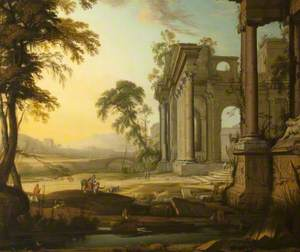 Landscape with a Capriccio of Ruins and Figures