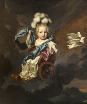 Portrait of a Baby Girl as Venus, in a Chariot Drawn by Doves