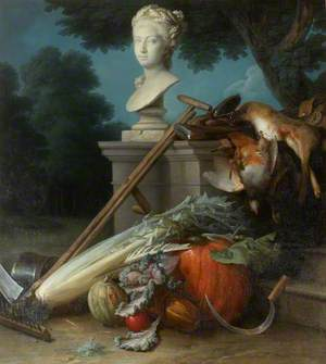 Garden Still Life with Implements, Vegetables, Dead Game and a Bust of Ceres (The Attributes of Gardening)
