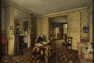 'A Chelsea Interior' (The Carlyles at Home with Their Dog, 'Nero')