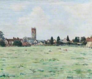 Nayland Village, Suffolk, Seen over a Field