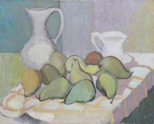 Still Life of Pears and Jugs