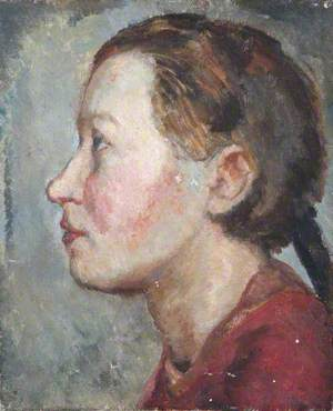 Head Study of an Unknown Young Woman in Profile