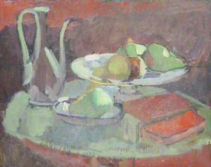 Still Life with Fruit in Dishes and a Ewer