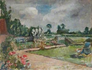 Garden Scene with Deckchair