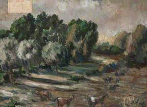 Woodland Scene with Cattle