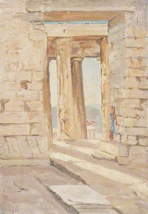 Remains of a Doric Temple, Doorway and Columns