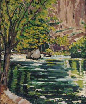 A River Scene on the Loup, Alpes Maritimes