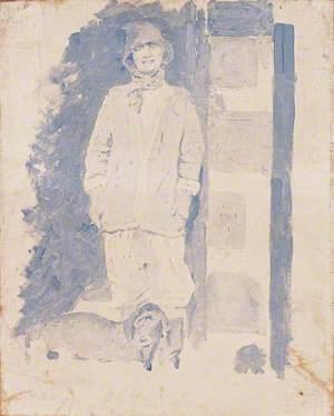 Madame Chanel, Gabrielle 'Coco' Chanel (1883–1971), with a Dachshund