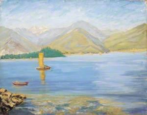 An Italian Lake Scene