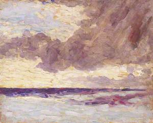 Seascape with Rain Clouds