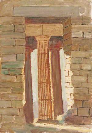 Columns Seen through an Opening