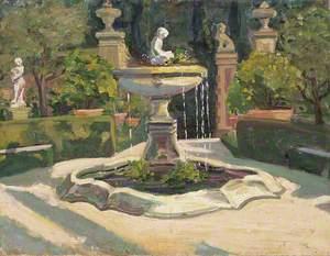 A Fountain in a Garden near Florence
