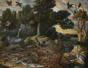 Landscape with Birds and Fishes