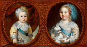 The Dauphin (later Louis XIV, 1638–1715, King of France), and Philippe, duc D'Anjou (later Philippe, 1640–1701, duc d'Orleans), as Children