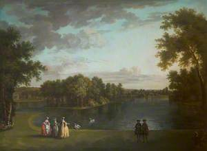 A View of the Lake at West Wycombe Park and the Temple of Daphne
