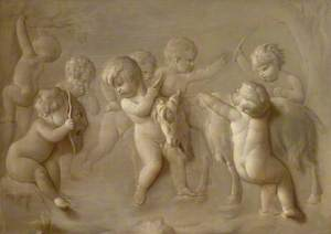 Cupids Playing with a Goat