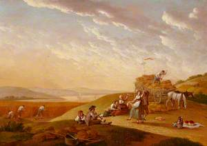 Landscape with a Harvest Scene