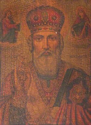 Icon with Saint Nicholas, Bishop of Myra