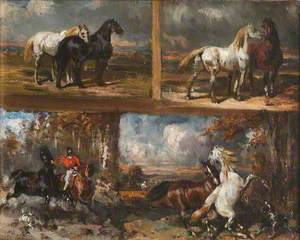 Four Studies of Horses