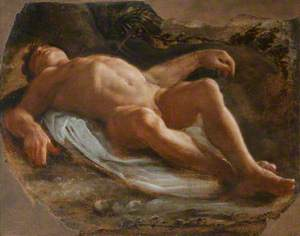 A Recumbent Male Nude