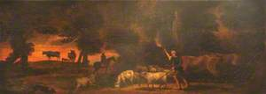 Landscape with Herdsman, Horseman and Cattle