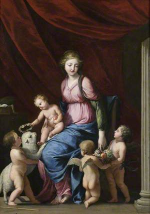 The Virgin and Child with Saint John the Baptist and Child Angels