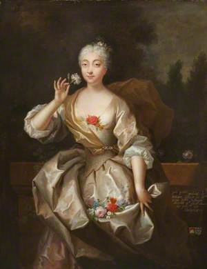 Portrait of an Unknown Lady Holding a Flower
