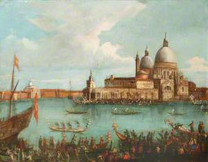 A Regatta at the Entrance to the Grand Canal