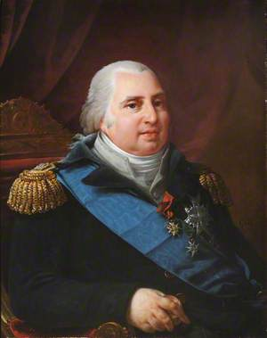 Louis XVIII (1755–1824), King of France, with the Ribbon of the Order of the Saint-Esprit