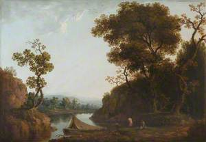 A View of the Wye with Bathers