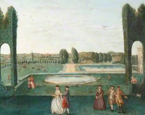 The Octagon Pond, Hartwell House, Buckinghamshire