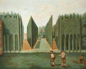 The Topiary Arcades and George II Columns, Hartwell House, Buckinghamshire