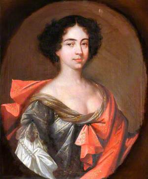 Portrait of an Unknown Lady in a Grey Dress with a Pinkish-Red Mantle