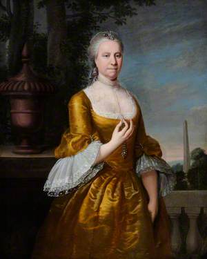 Portrait of an Unknown Lady in a Yellow Satin Dress