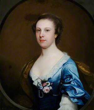 Portrait of an Unknown Lady in a Blue Dress