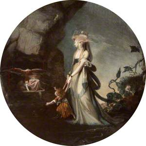 Mamillius Conjuring up Sprites and Goblins for His Mother, Hermione (William Shakespeare's 'The Winter's Tale')