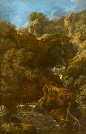 A Waterfall amongst Rocks (Tivoli?)