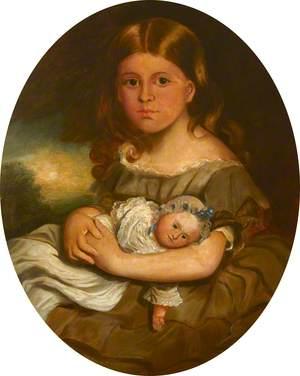 Lady Georgina Mary Louisa Moreton (?), Holding a Doll